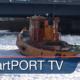 Eisbrecher im Hamburger Hafen