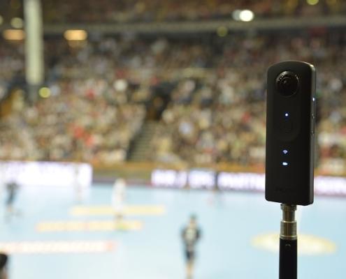 Premiere in der Handball Bundesliga. realTV und THW Kiel drehen 360°-Video
