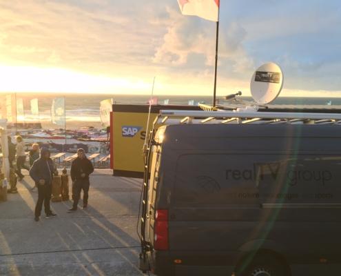 Videoproduktion im Internetstream beim Windsurf Worldcup Sylt
