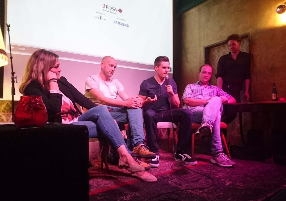 Unser Virtual Reality Experte Christian Biernath-Wüpping beim Mediensalon