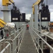 Videoproduktion auf dem Baggerschiff im Hamburger Hafen