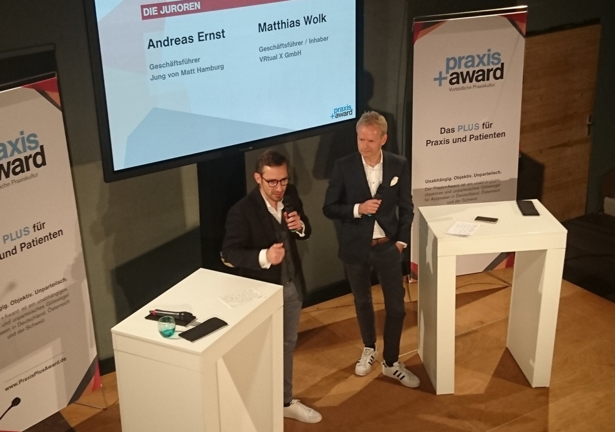 Virtual Reality: realTV CEO beim Praxis+Award