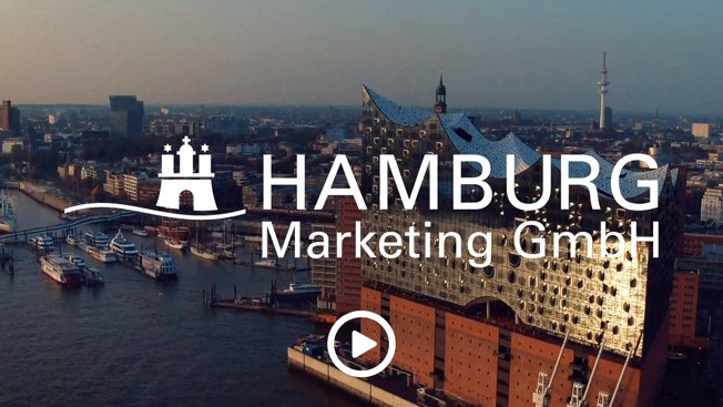 Hamburg Marketing mit Logo